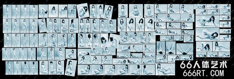人体艺术图片基础姿态参考100图一