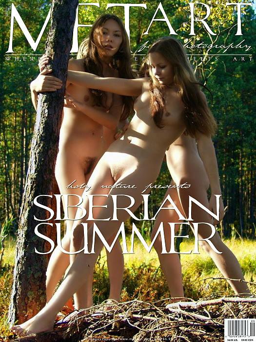 三个俄罗斯女生西伯利亚森林外拍