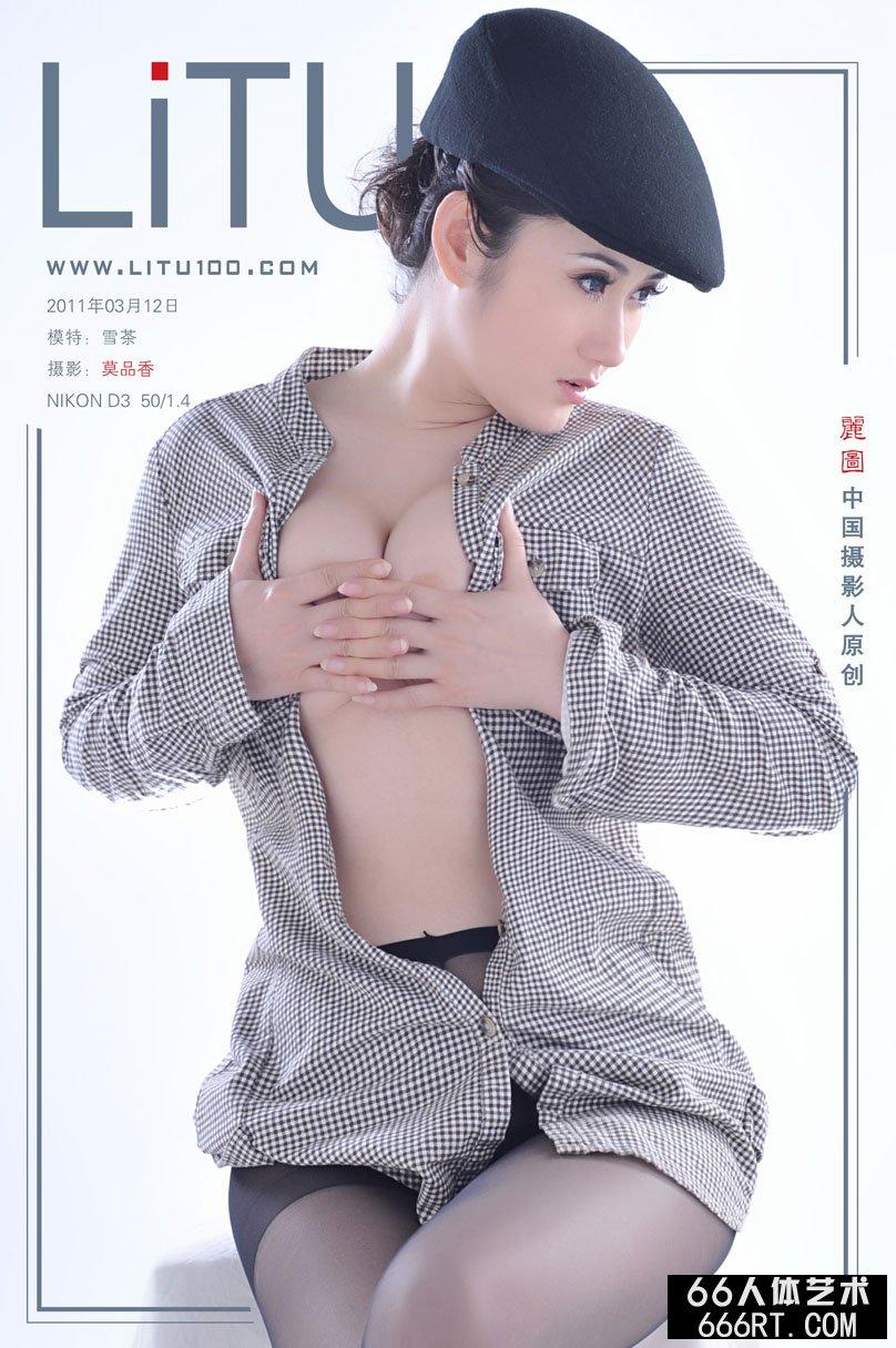 新超模雪茶11月3月12日棚拍黑丝人体